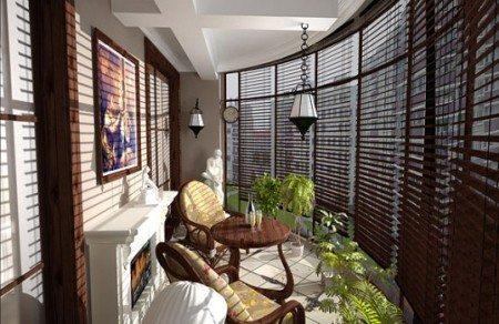 Дизайн лоджий и балконов варианты
