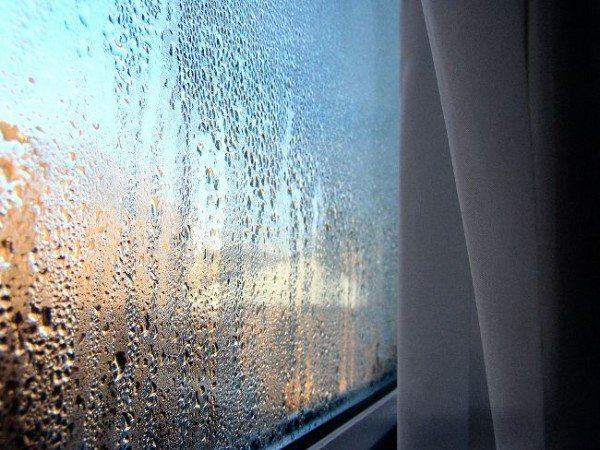 Фото конденсата на окнах