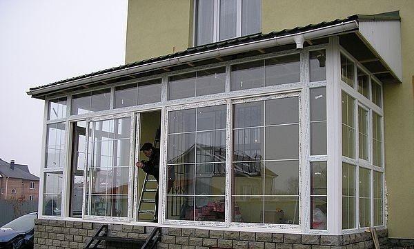 пластиковые окна на веранду фото цена