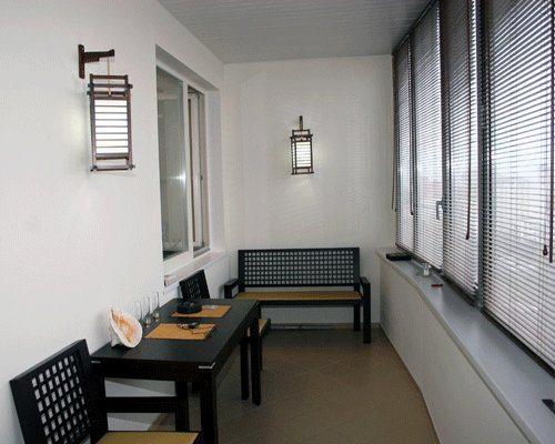 Интерьер балконов в квартире