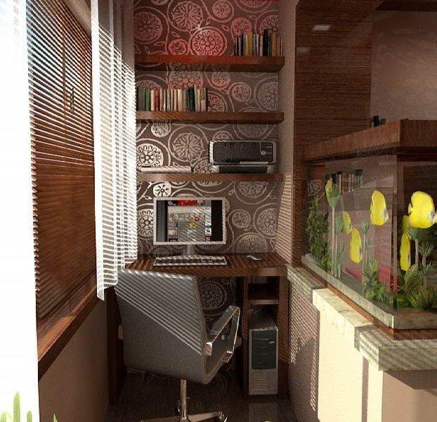 Уютная лоджия как комната