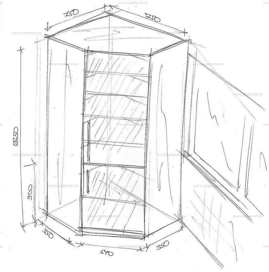 Эскиз шкафа на балконе