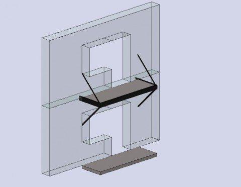 Схема расположения балконных подкосов