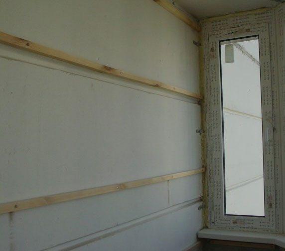 как вагонкой обшить балкон