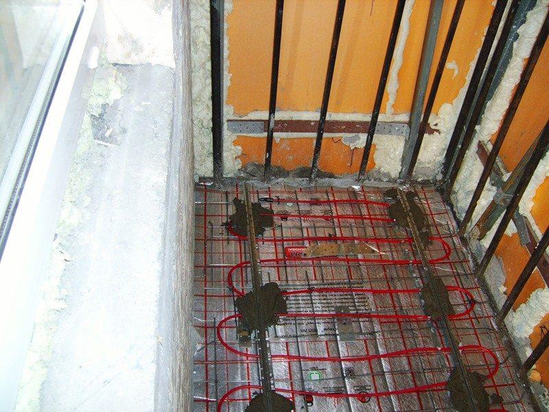Водяное отопление полов на балконе..