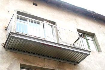 Пример отремонтированной плиты на балкон