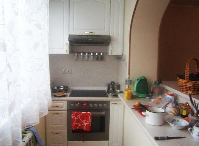 кухня из балкона