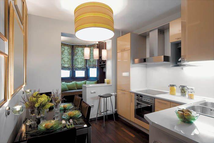 кухня с лоджией дизайн