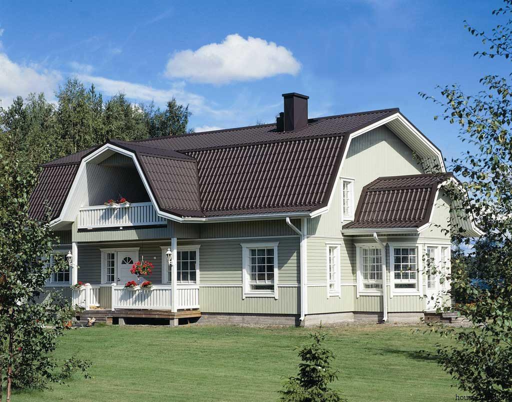 Мансардная крыша с балконом предполагает отдельную стропильную систему для покрытия последнего