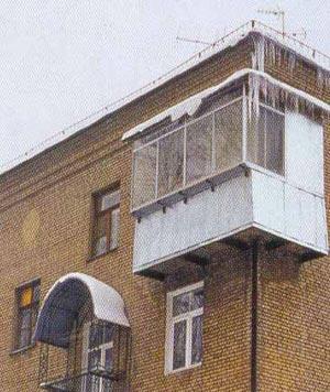 Балкон на последнем этаже