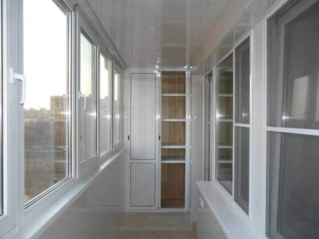 обшивка балкона алюминиевыми панелями