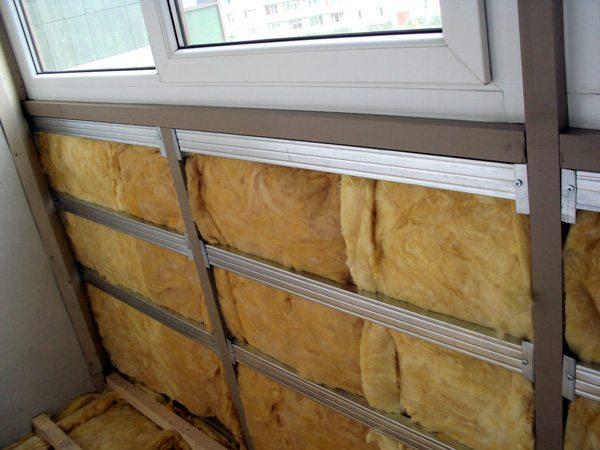 Обрешетка для обшивки и утепления балкона