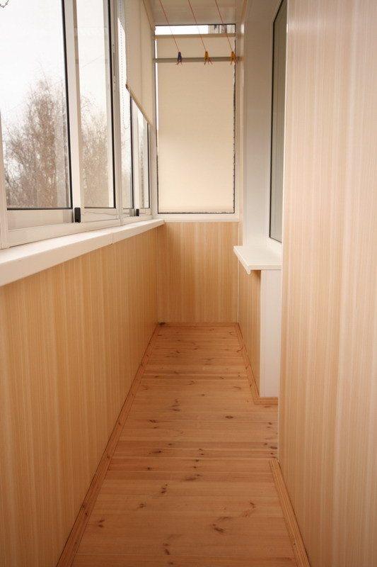 Обшивка балконов внутри МДФ вагонкой