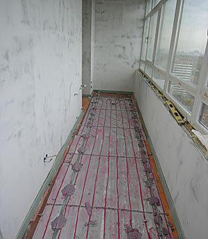 Обустройство теплого пола на лоджии высотного дома