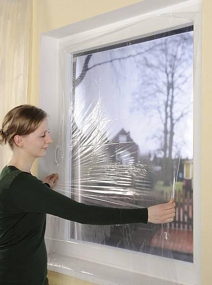 Обычная пленка не будет эффективной при утеплении стекол