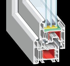 Пластиковый профиль также как стеклопакеты имеет несколько камер, что существенно повышает изоляционные свойства остекления