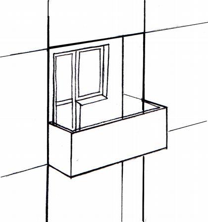 Конструкция лоджии-балкона – схематический внешний вид