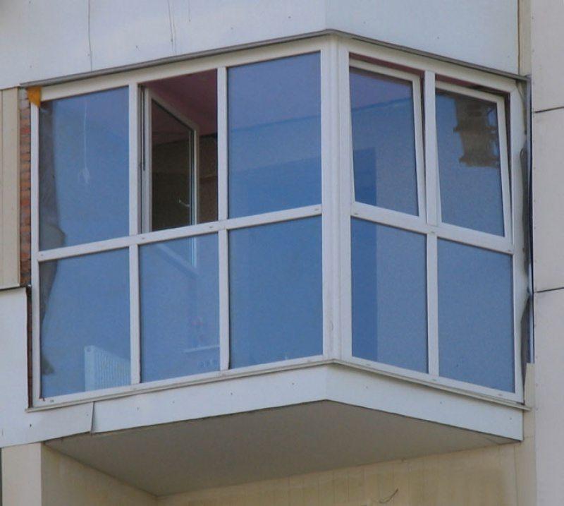 Французский балкон из алюминиевого профиля