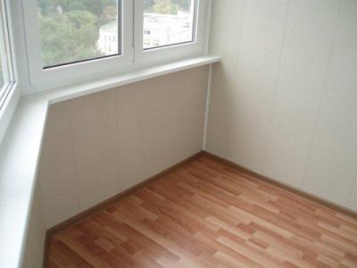 Отделка пола на балконе линолеумом