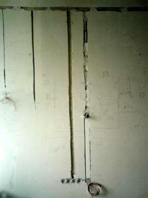 Обустройство скрытой электропроводки