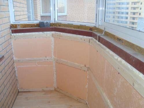 Пример утепления балкона