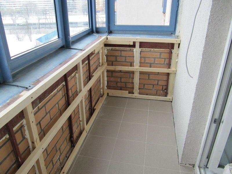 отделка лоджий и балконов вагонкой