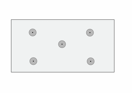 Пенопласт крепится к стене грибками в 5 точках