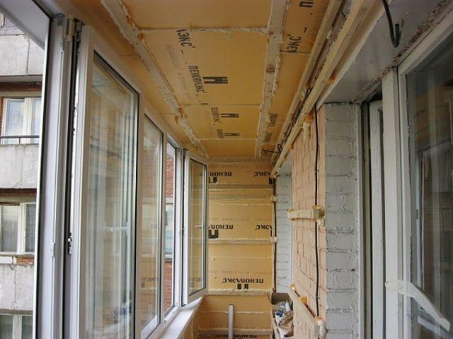 Ремонт потолка лоджии.