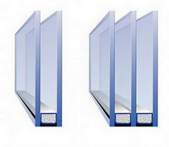 Двухкамерные стеклопакеты потеют значительно реже, чем однокамерные
