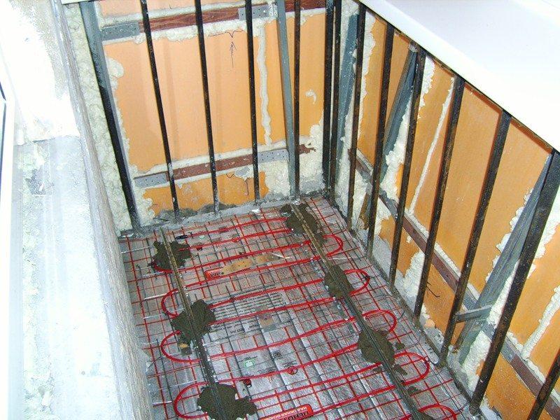 Устройство теплого пола на балконе