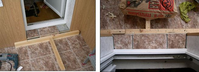 Как сделать порог на балкон своими руками: фото и видео.