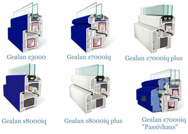 При изготовлении оконных конструкций используются самые разные профильные системы