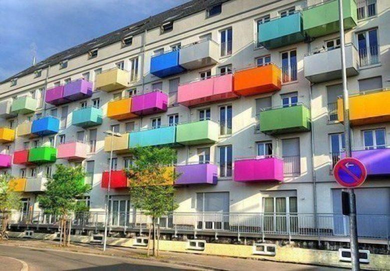 Современные открытые балконы