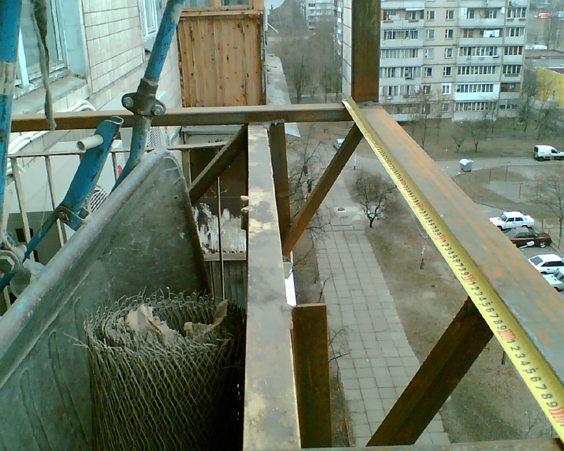 Внешний вид балкона перед ремонтом
