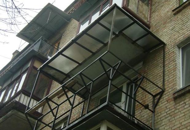 Вынос балконного окна