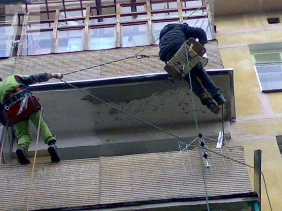 Проведения работ по ремонту плиты на балконе