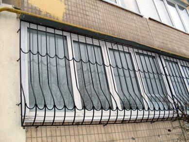 Сваренная балконная решетка