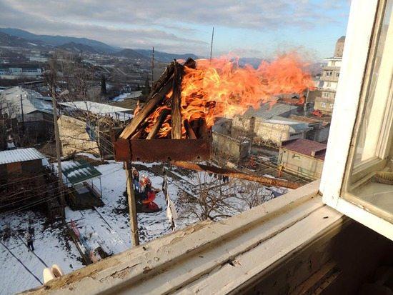 Высокая вероятность возникновения пожара при использовании открытого источника огня