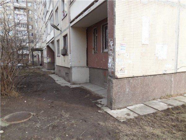 Первый этаж дома советской постройки серии 504 без лоджии
