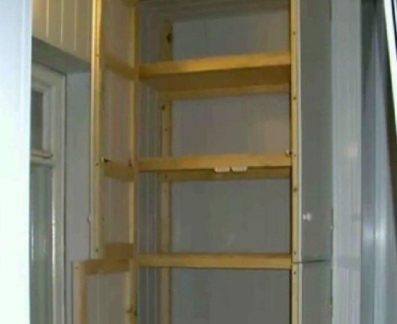 Как на лоджии сделать шкаф своими руками