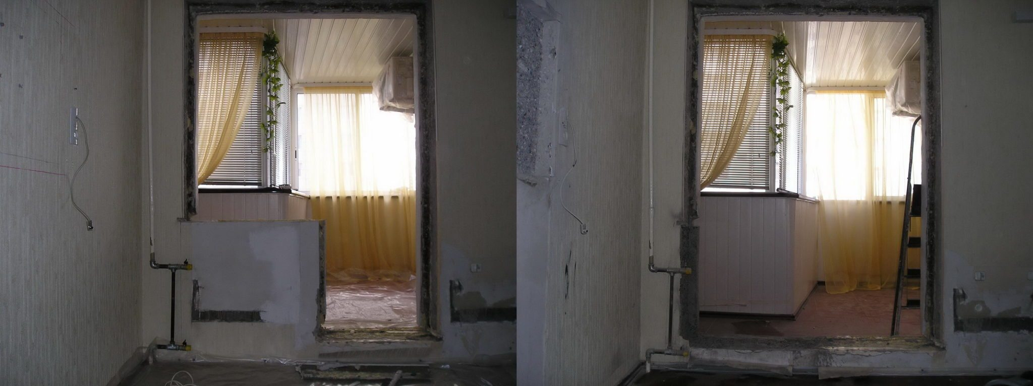 П-44 2-х комнатная квартира балкон размер..