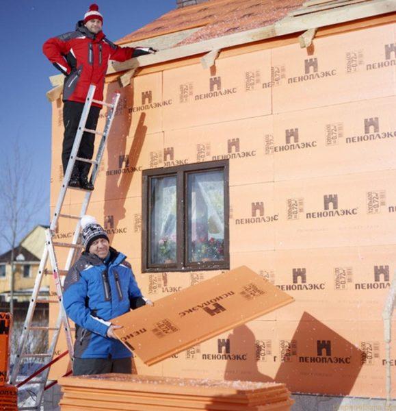 Стены утеплять пеноплексом лучше всего снаружи.