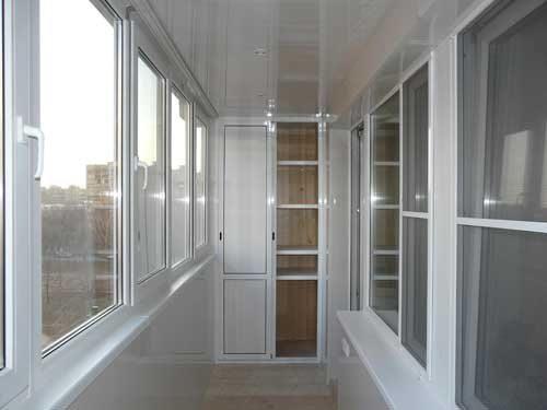 Балкон, остекленный теплым методом