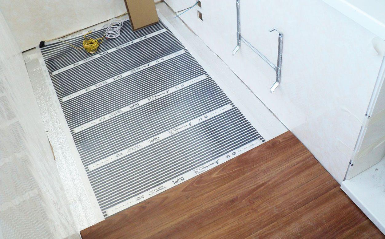 Как сделать теплый пол на балконе и лоджии: пошагово с фото.