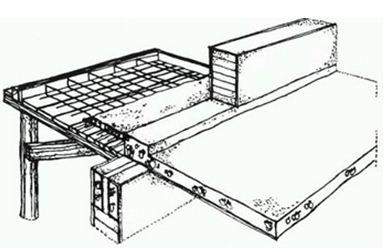 Схематичный план устройства будущего балкона
