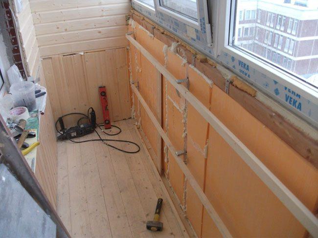 Утепление балкона изнутри: чем утеплить стены, как лучше сде.