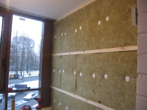 Стена утеплённая минватой
