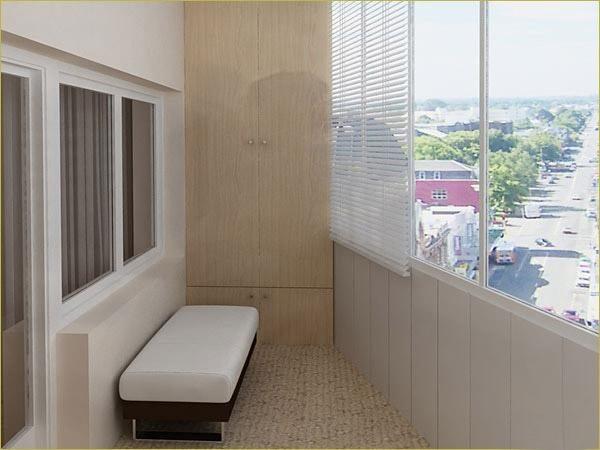 Частично утепленный балкон