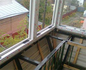 Вынос остекления балкона своими руками.