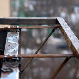 Сварочные работы на выносе окна